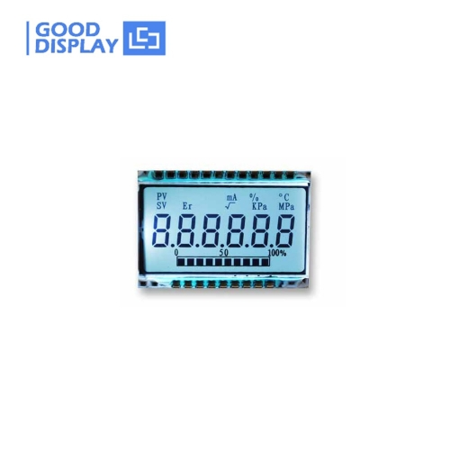 10 pieces, 6 digits LCD panel TN LCD with silk print -40~80C operating temperature GD46532