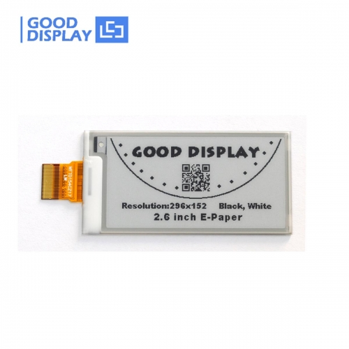 2.6 inch e-paper display partial refresh e-ink screen GDEW026T0