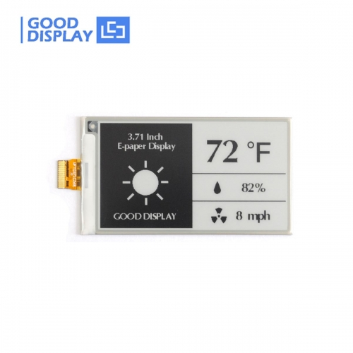 3.71 inch e-paper display black and white 4 Grayscale e-ink screen module GDEW0371W7