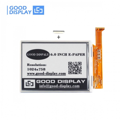 6 inch 1024*758 High-resolution EPD display Large size parallel epaper screen GDE060F3