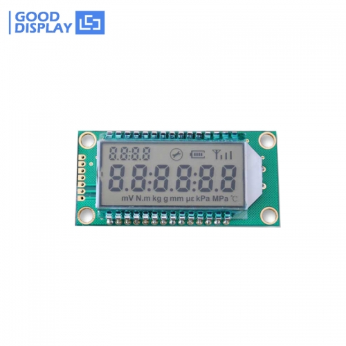 6-digit 8-Segment ultra-low temperature segment LCD module GDM0689